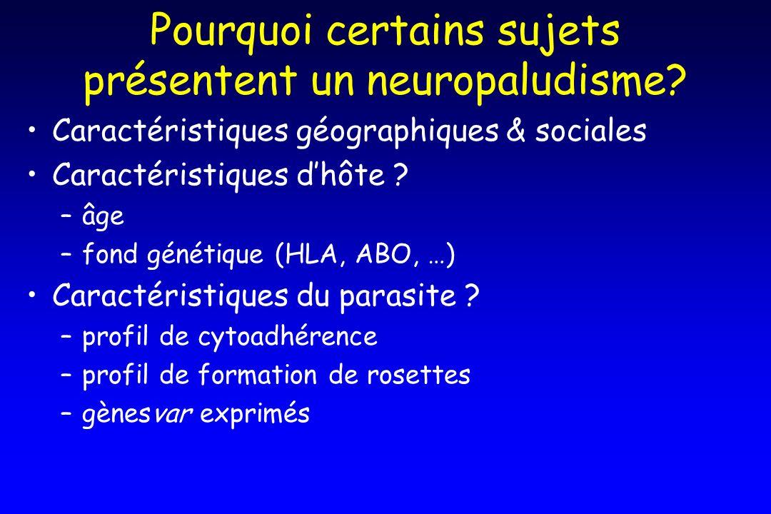 Pourquoi certains sujets présentent un neuropaludisme