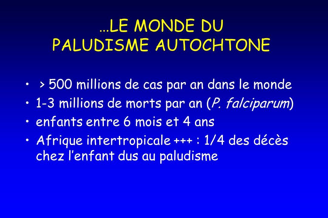 …LE MONDE DU PALUDISME AUTOCHTONE