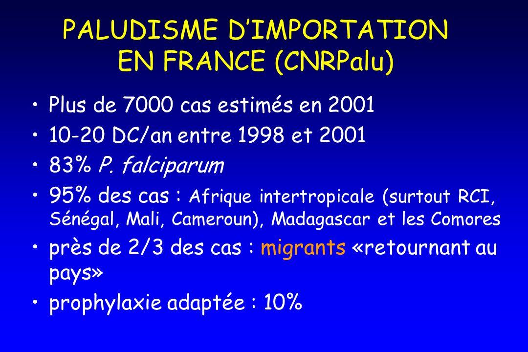 PALUDISME D'IMPORTATION EN FRANCE (CNRPalu)