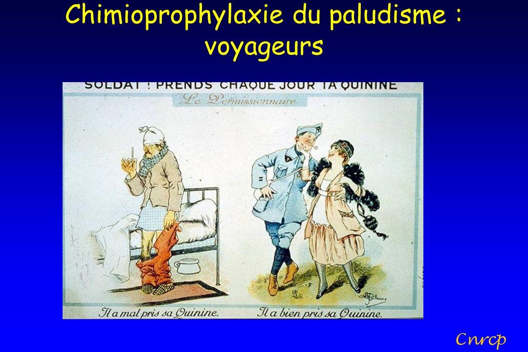 Chimioprophylaxie du paludisme : voyageurs