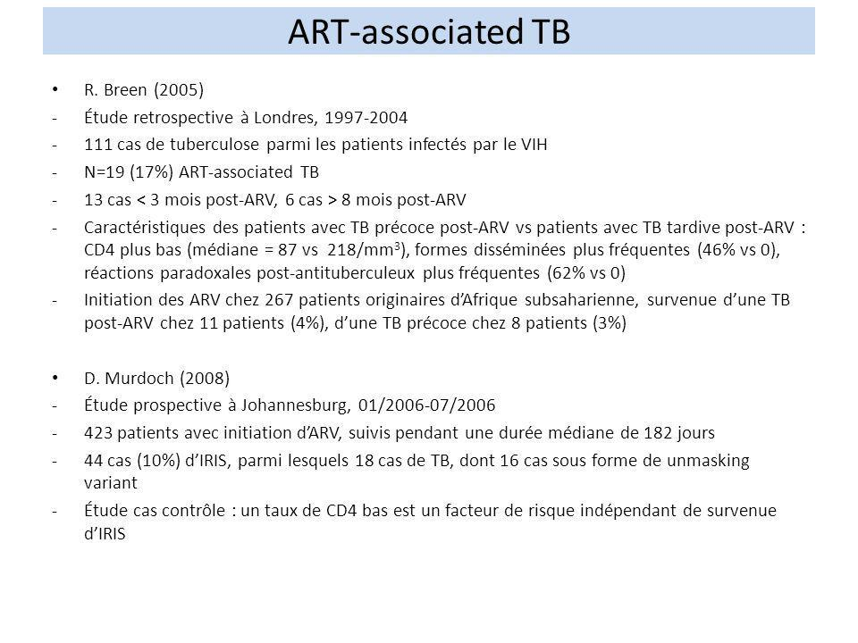 ART-associated TB R. Breen (2005)