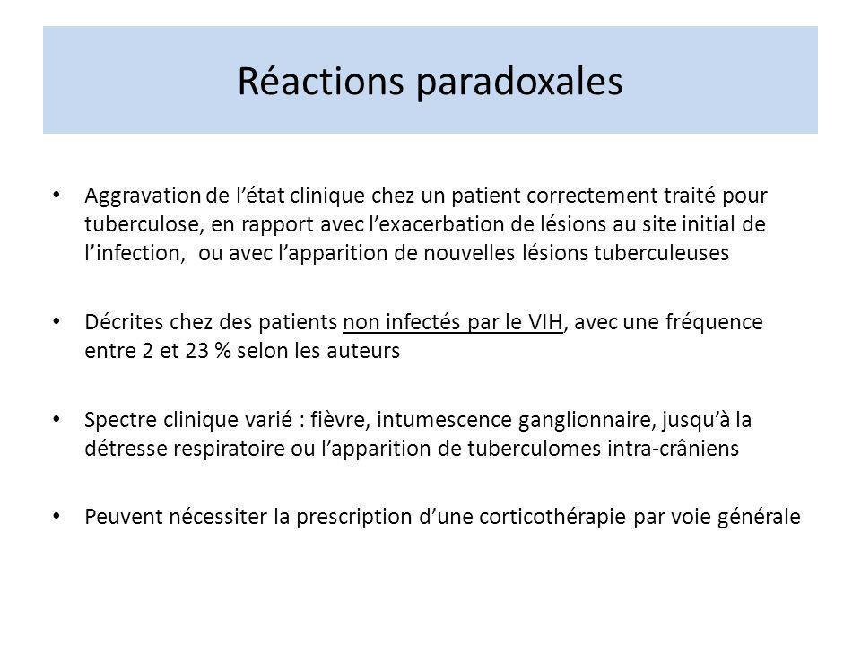 Réactions paradoxales