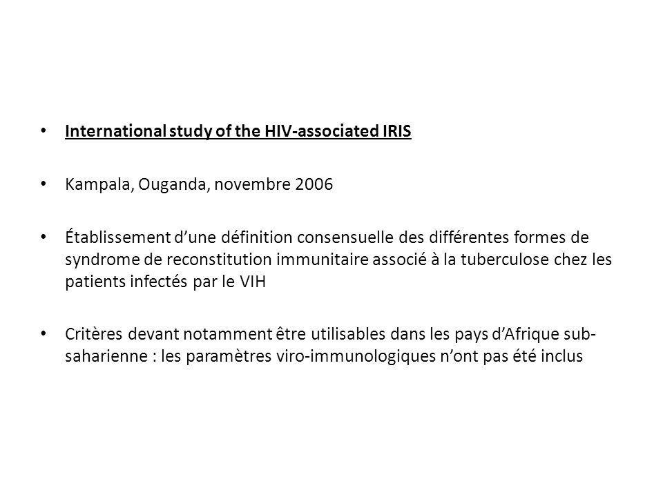 International study of the HIV-associated IRIS