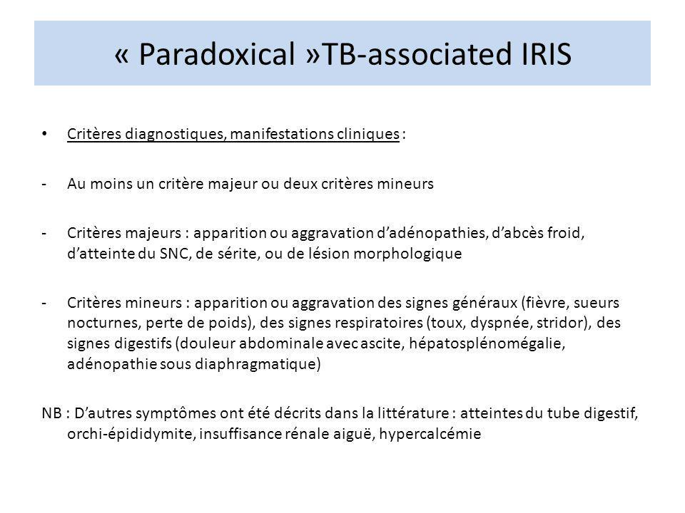 « Paradoxical »TB-associated IRIS