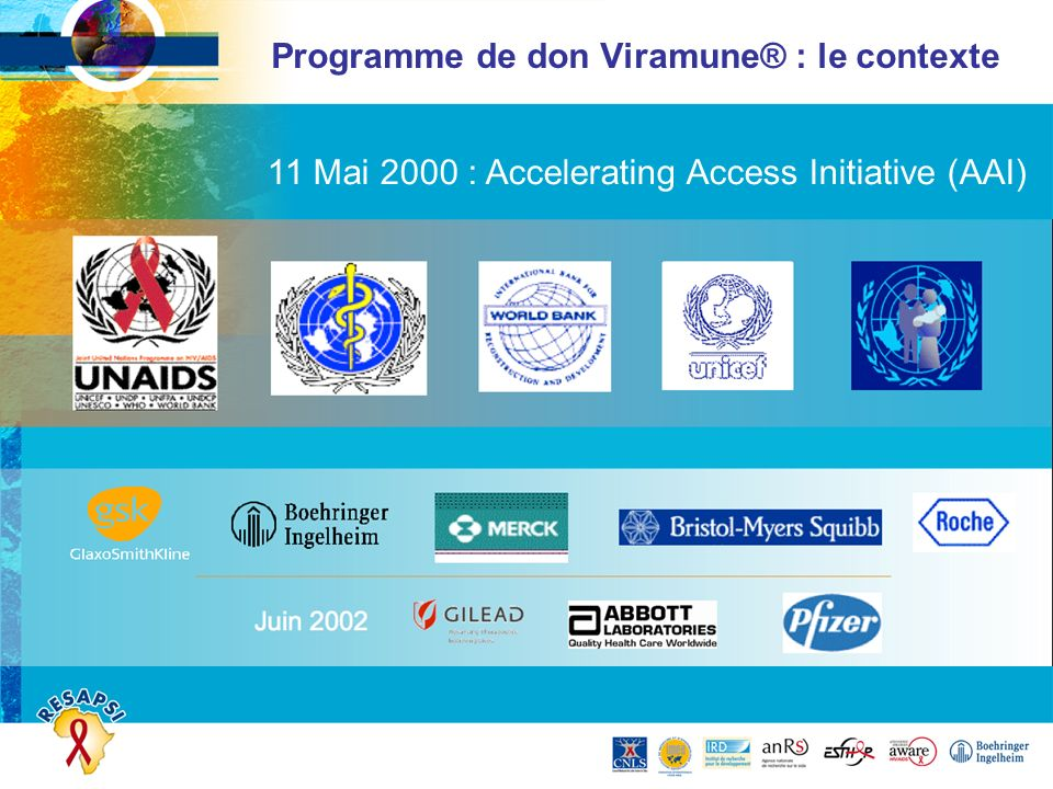 Programme de don Viramune® : le contexte