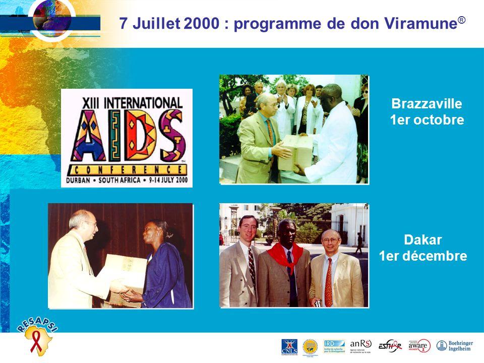7 Juillet 2000 : programme de don Viramune®