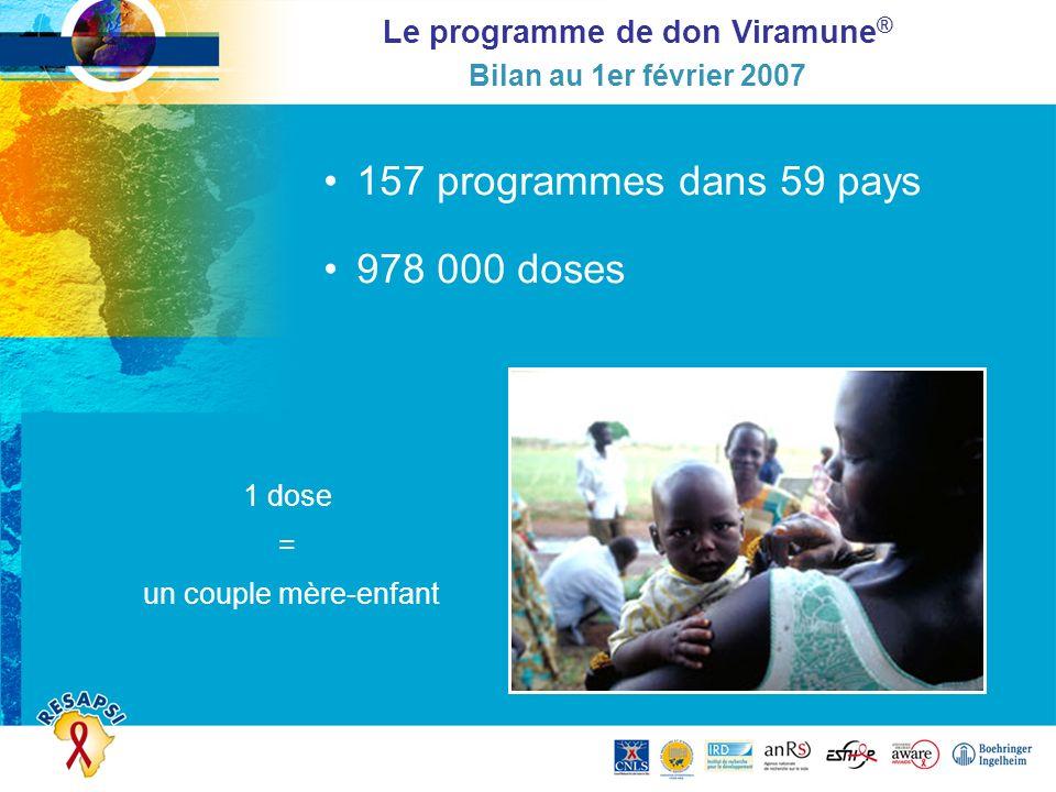 Le programme de don Viramune® Bilan au 1er février 2007