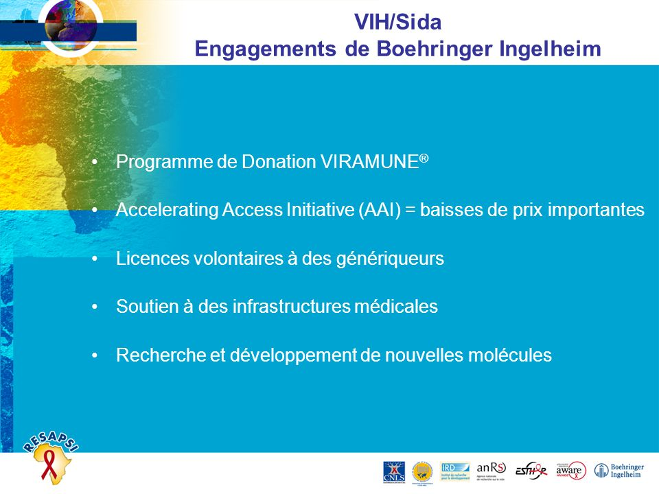 VIH/Sida Engagements de Boehringer Ingelheim