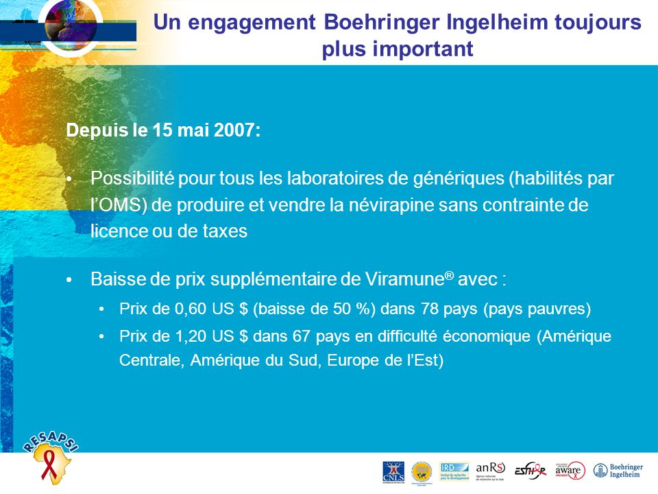 Un engagement Boehringer Ingelheim toujours plus important