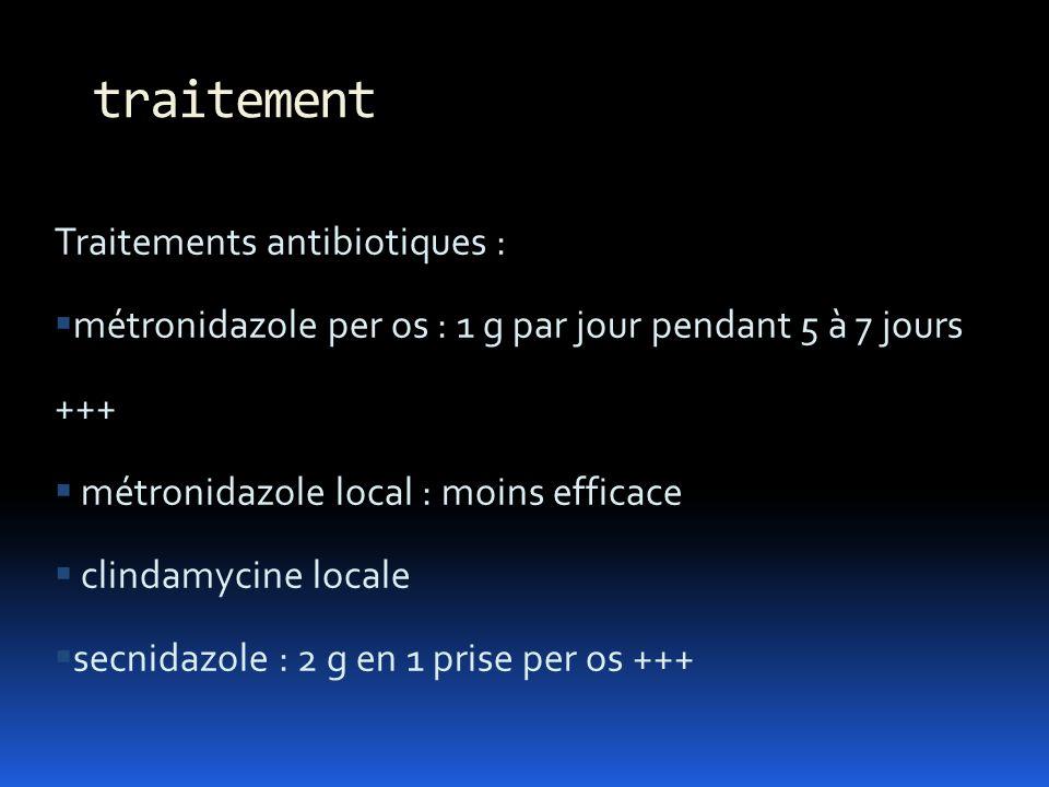 traitement Traitements antibiotiques :