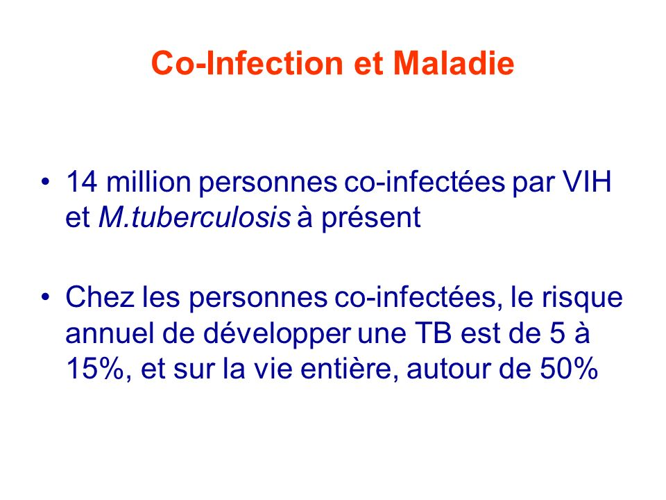 Co-Infection et Maladie