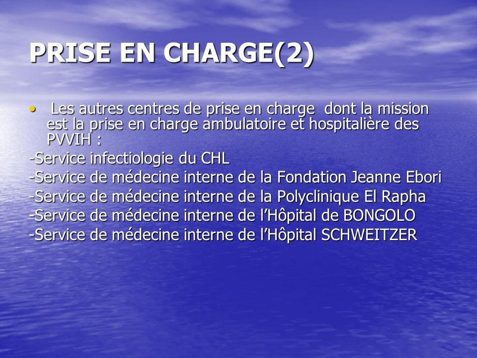 PRISE EN CHARGE(2) -Service infectiologie du CHL