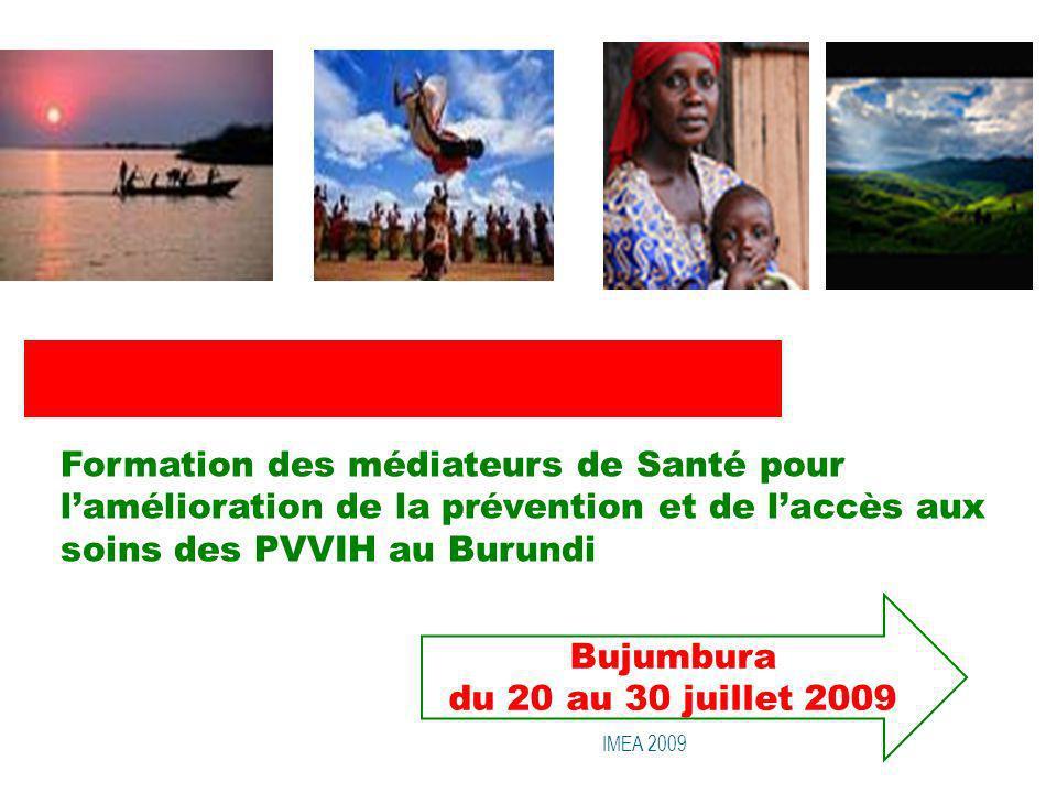 Formation des médiateurs de Santé pour l'amélioration de la prévention et de l'accès aux soins des PVVIH au Burundi