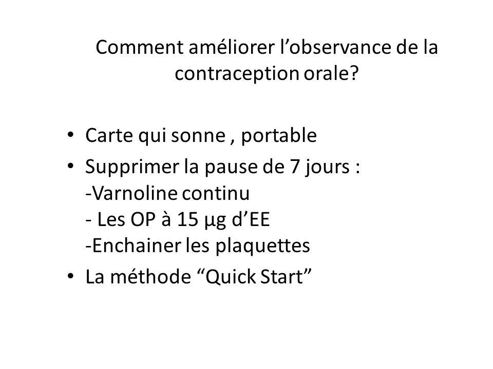 Comment améliorer l'observance de la contraception orale