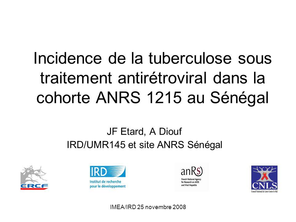 JF Etard, A Diouf IRD/UMR145 et site ANRS Sénégal