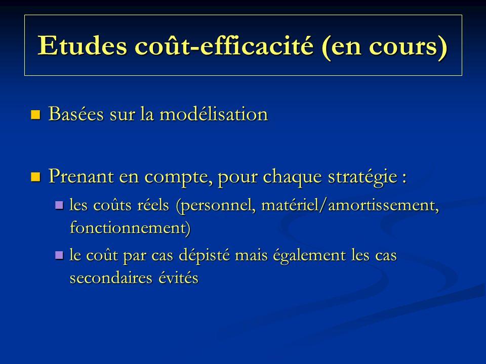 Etudes coût-efficacité (en cours)
