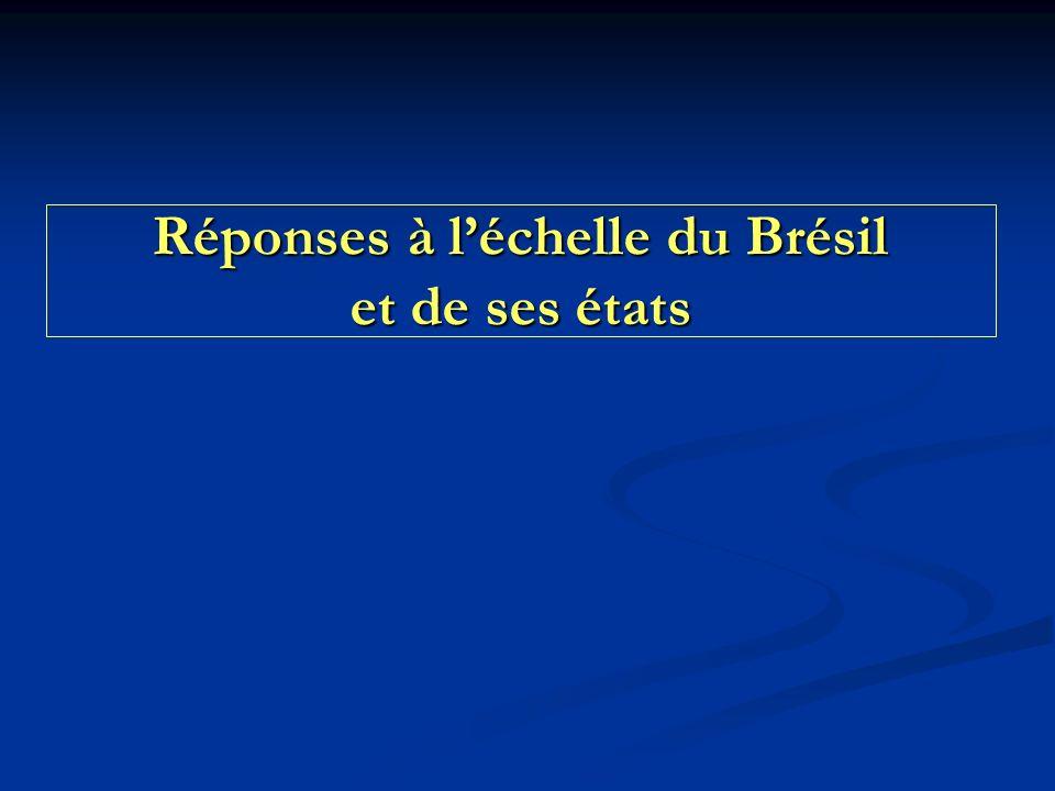 Réponses à l'échelle du Brésil et de ses états