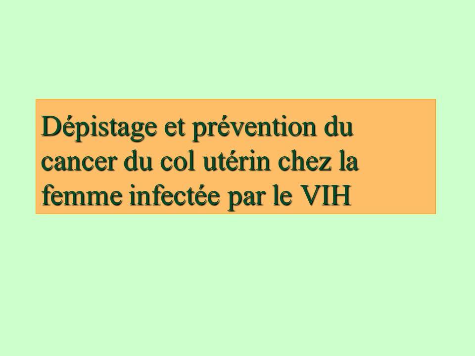 Dépistage et prévention du cancer du col utérin chez la femme infectée par le VIH