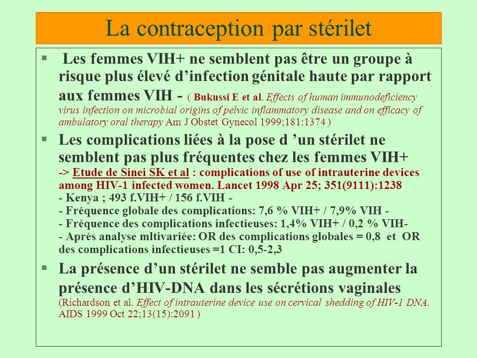 La contraception par stérilet
