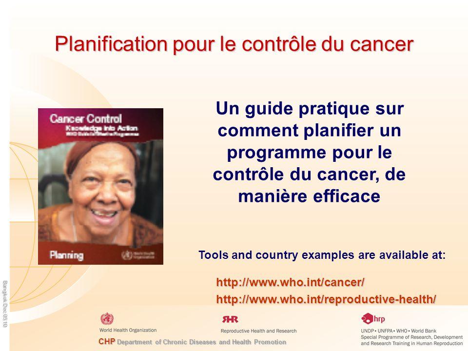 Planification pour le contrôle du cancer