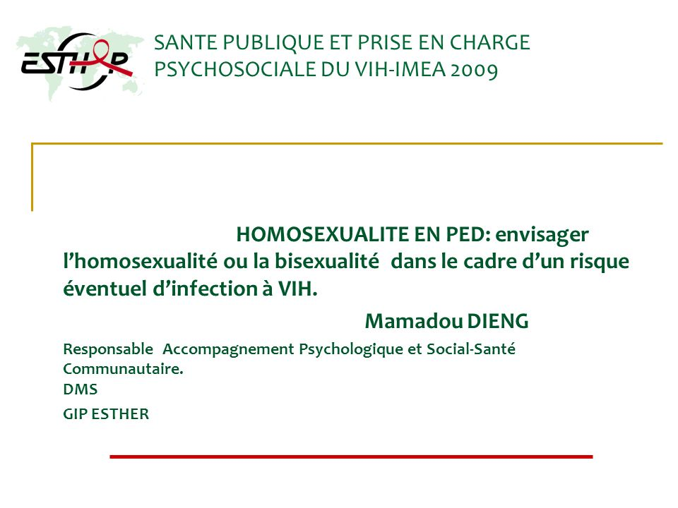SANTE PUBLIQUE ET PRISE EN CHARGE PSYCHOSOCIALE DU VIH-IMEA 2009