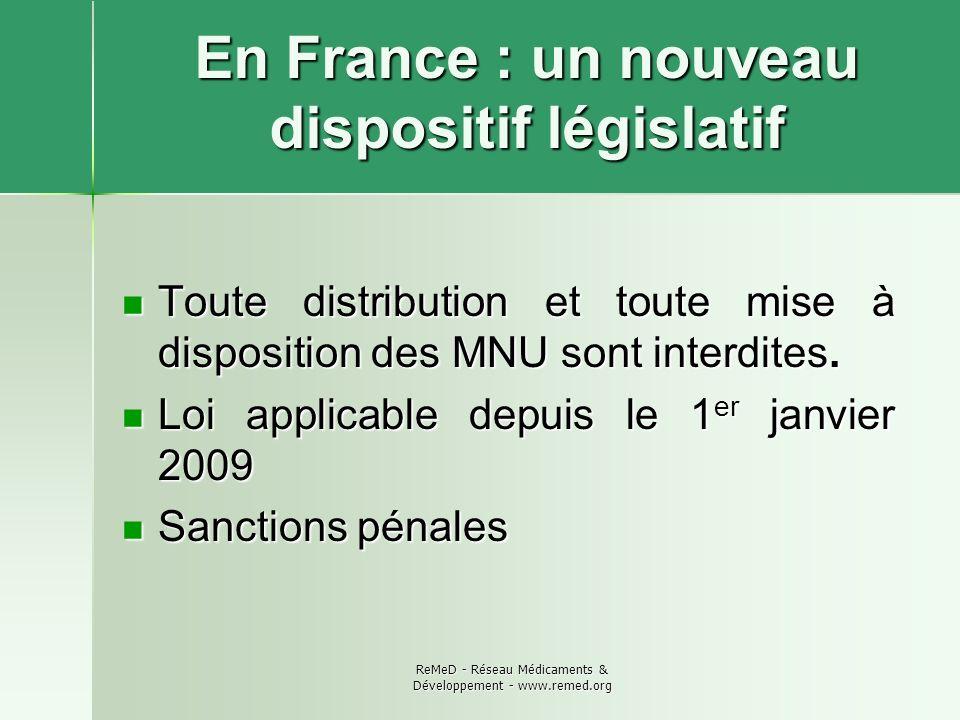 En France : un nouveau dispositif législatif