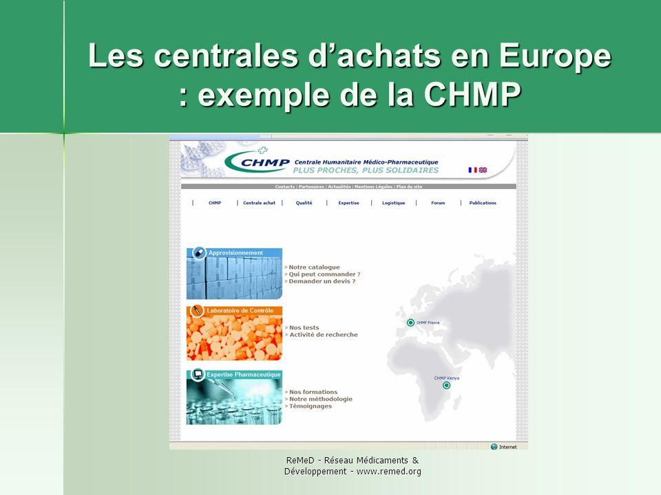 Les centrales d'achats en Europe : exemple de la CHMP