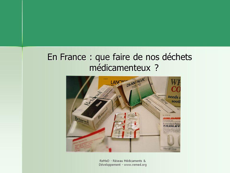 En France : que faire de nos déchets médicamenteux