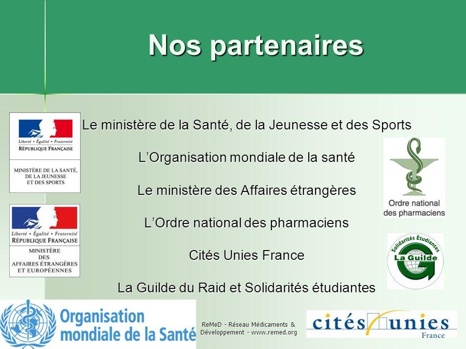 Nos partenaires Le ministère de la Santé, de la Jeunesse et des Sports