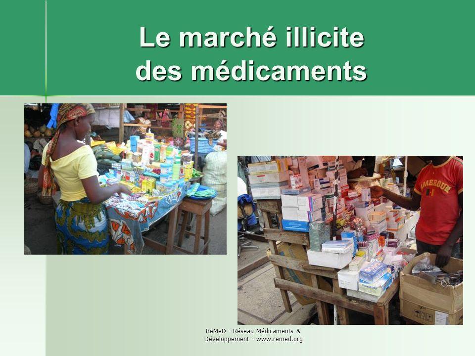 Le marché illicite des médicaments