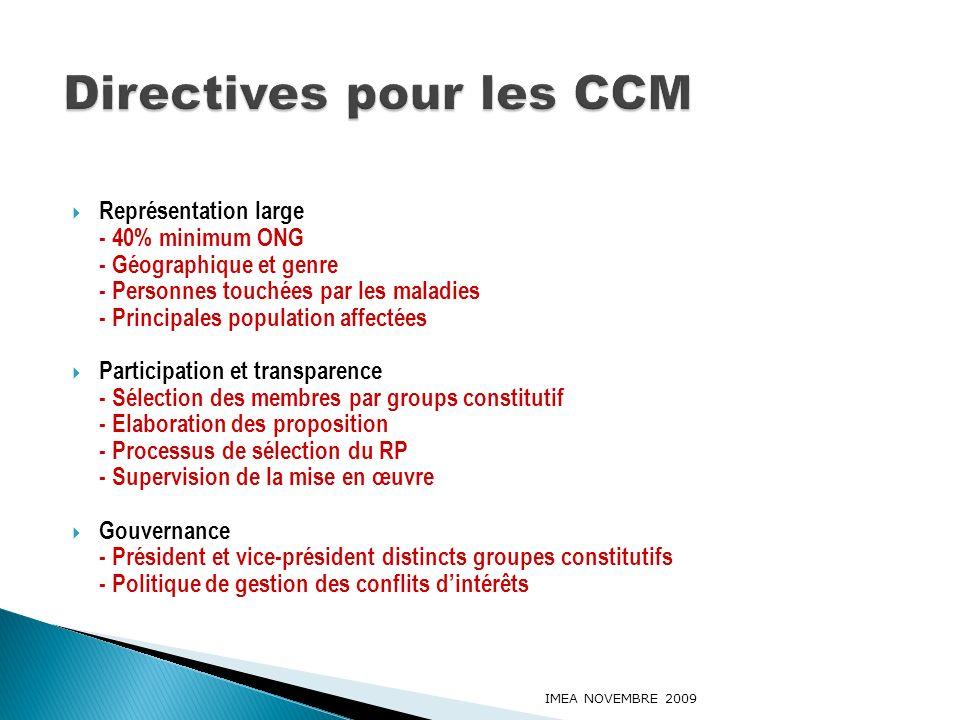 Directives pour les CCM