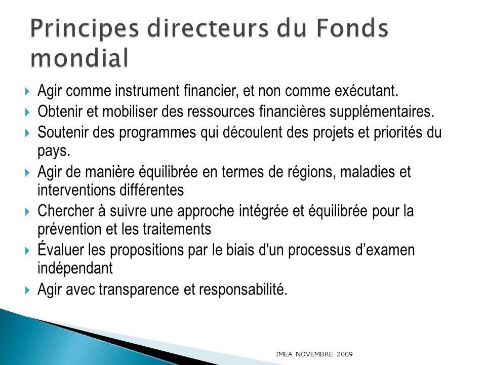 Principes directeurs du Fonds mondial