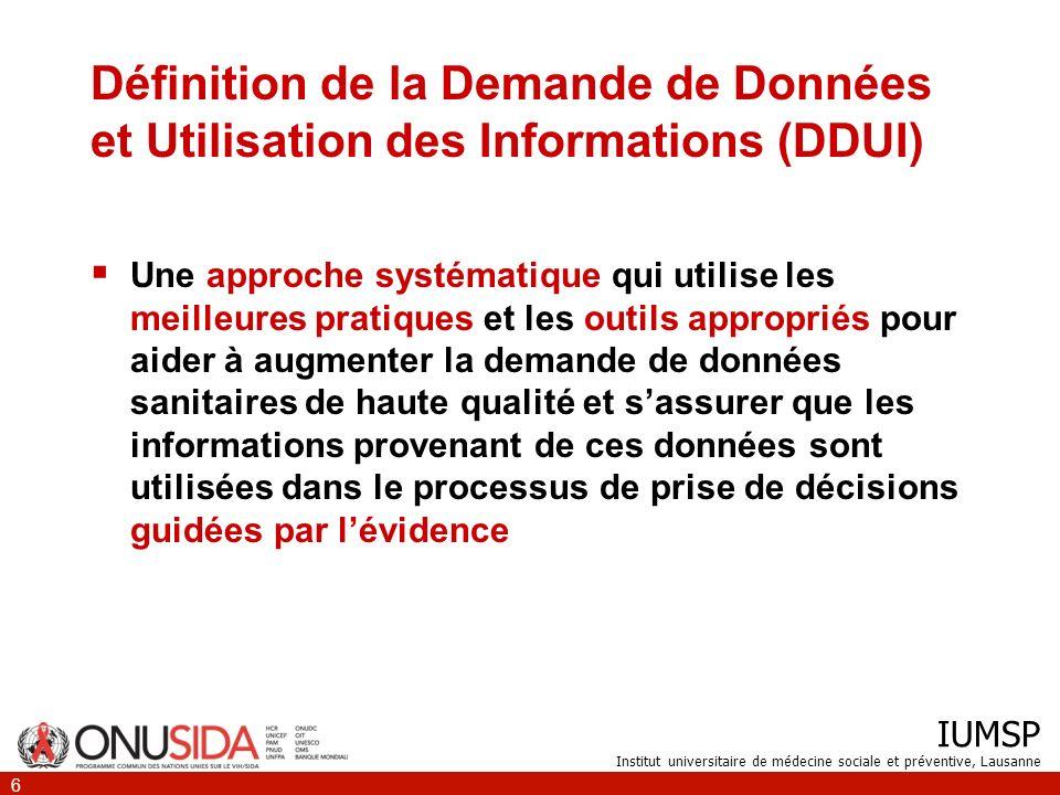 Définition de la Demande de Données et Utilisation des Informations (DDUI)
