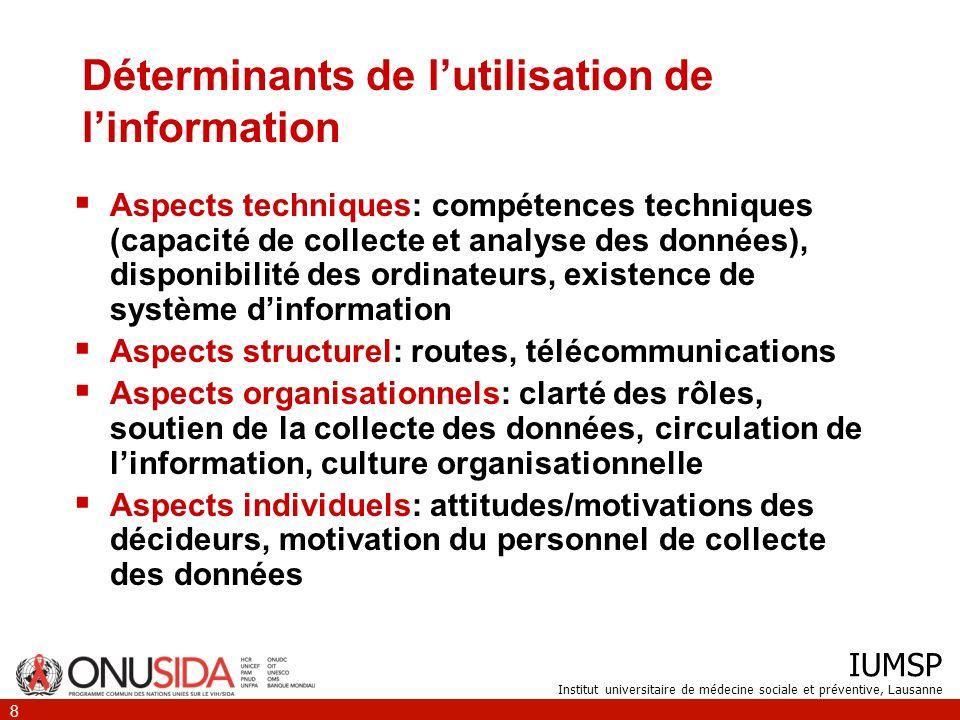 Déterminants de l'utilisation de l'information