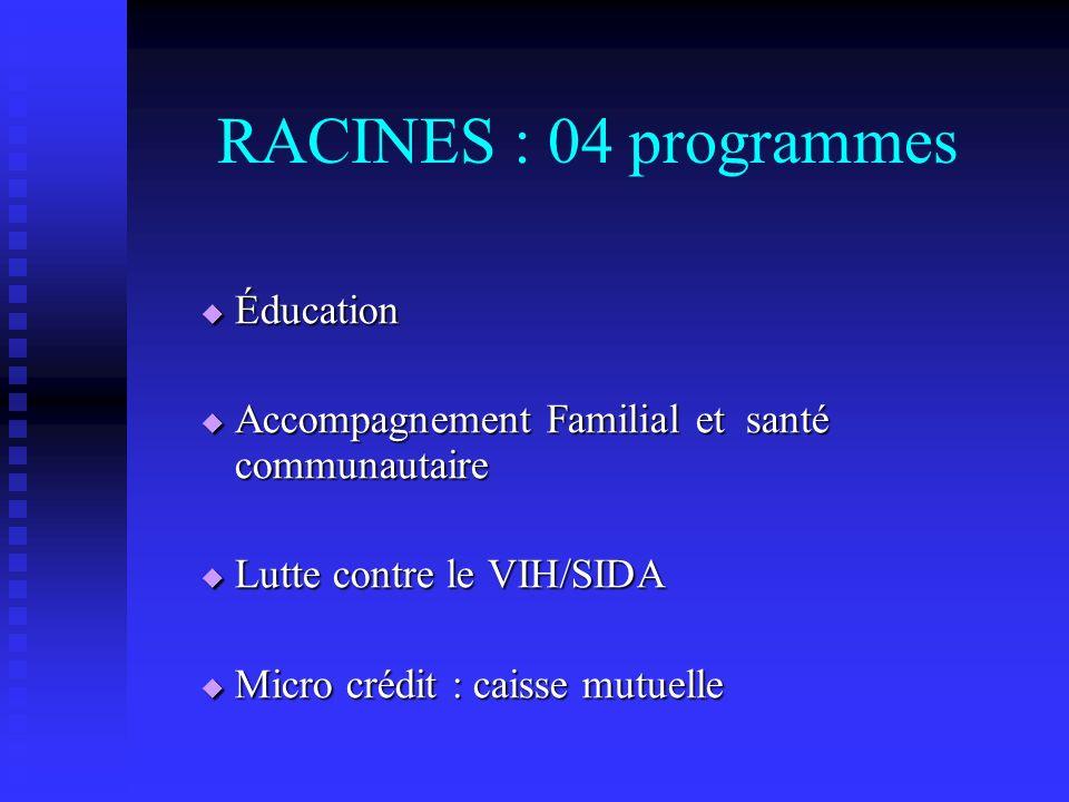 RACINES : 04 programmes Éducation