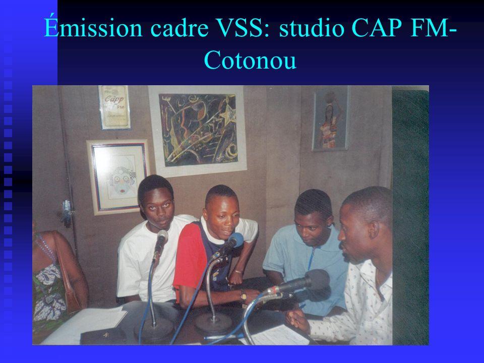 Émission cadre VSS: studio CAP FM-Cotonou