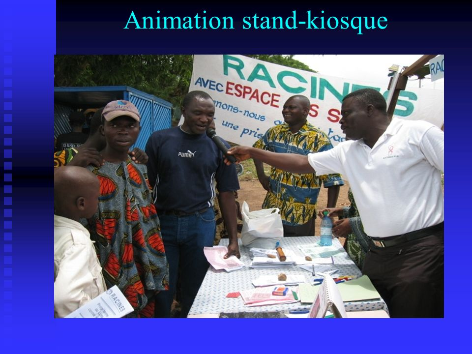 Animation stand-kiosque