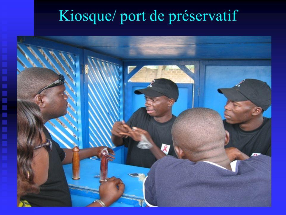Kiosque/ port de préservatif