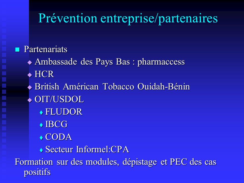 Prévention entreprise/partenaires