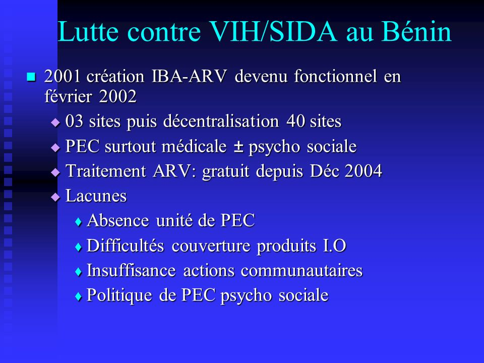 Lutte contre VIH/SIDA au Bénin
