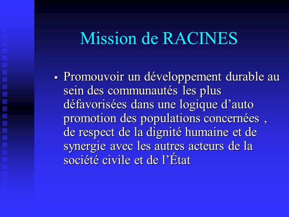 Mission de RACINES