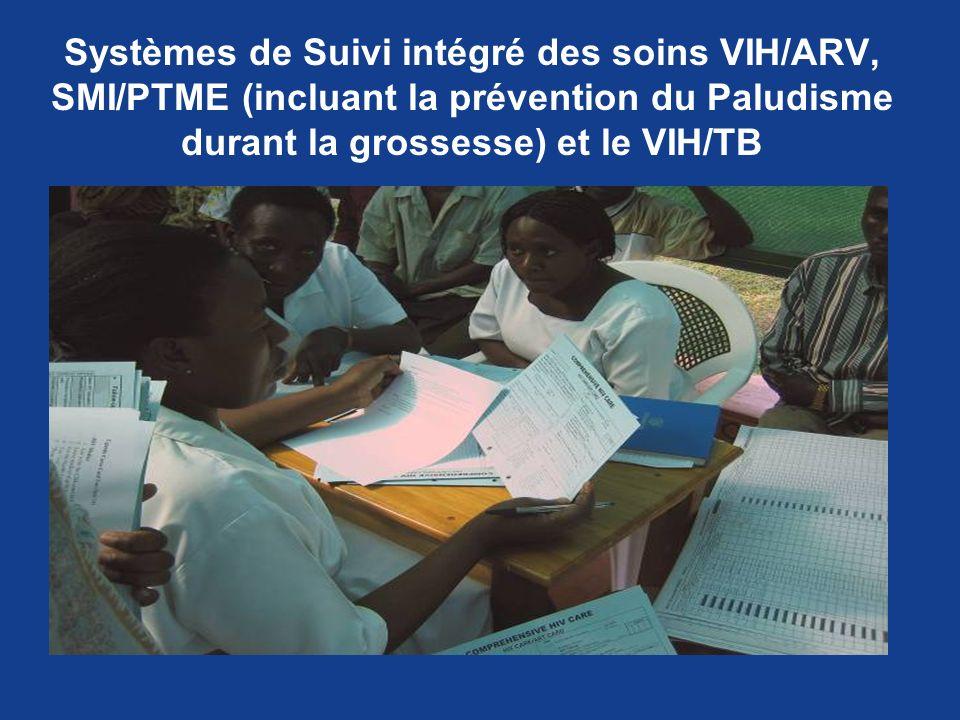 Systèmes de Suivi intégré des soins VIH/ARV, SMI/PTME (incluant la prévention du Paludisme durant la grossesse) et le VIH/TB