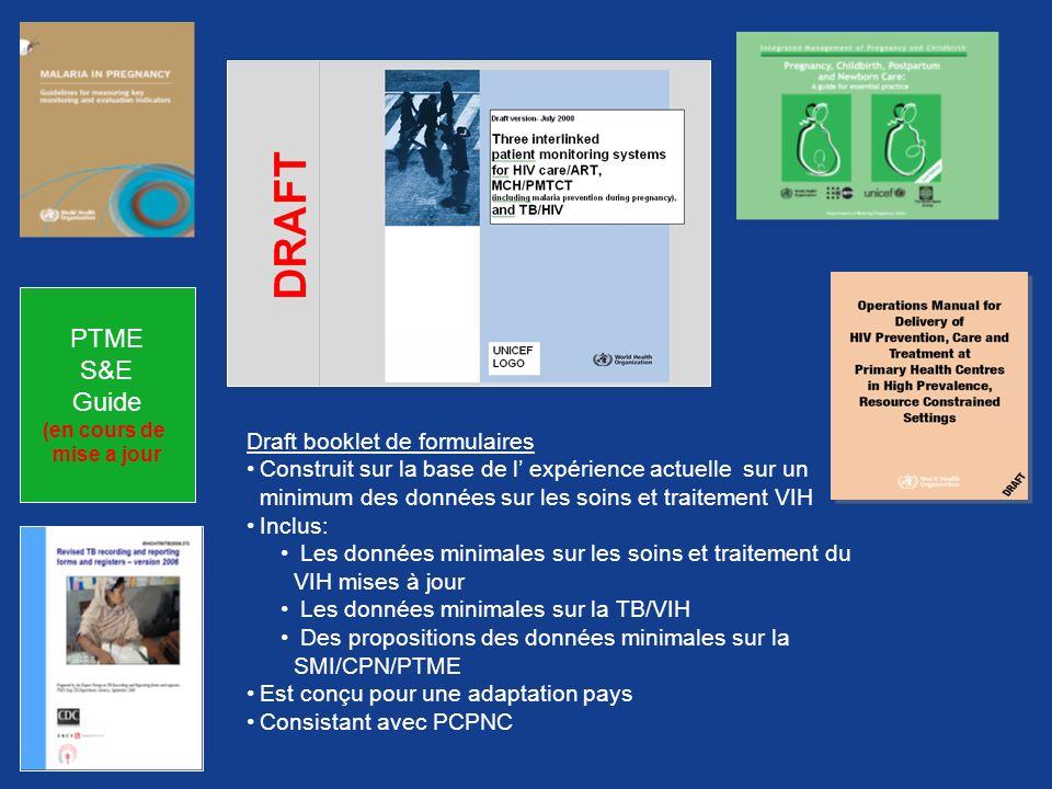PTME S&E Guide Draft booklet de formulaires