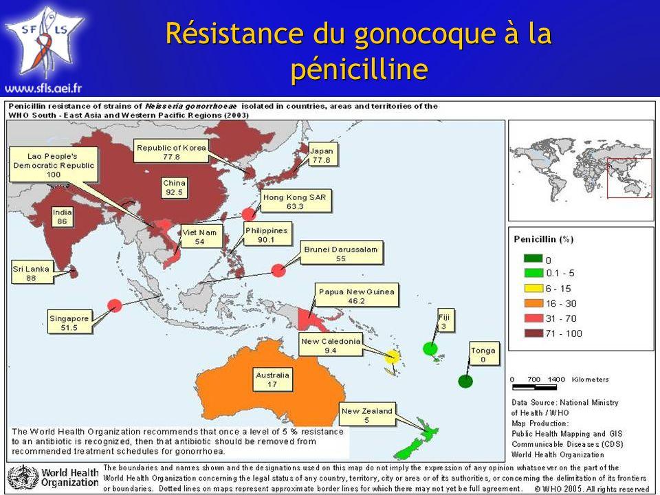 Résistance du gonocoque à la pénicilline