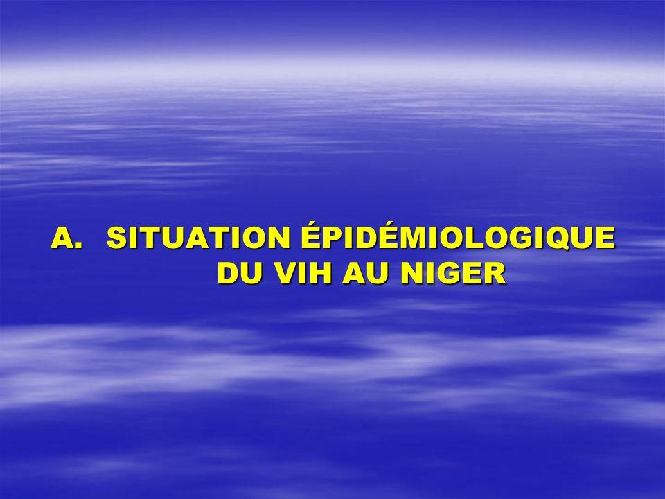 SITUATION ÉPIDÉMIOLOGIQUE DU VIH AU NIGER