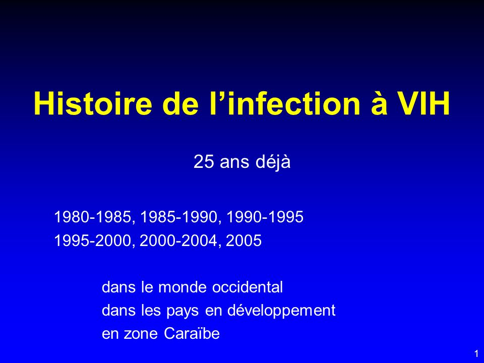Histoire de l'infection à VIH
