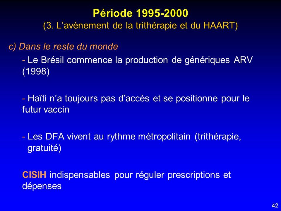 Période 1995-2000 (3. L'avènement de la trithérapie et du HAART)