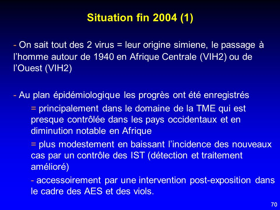 Situation fin 2004 (1)