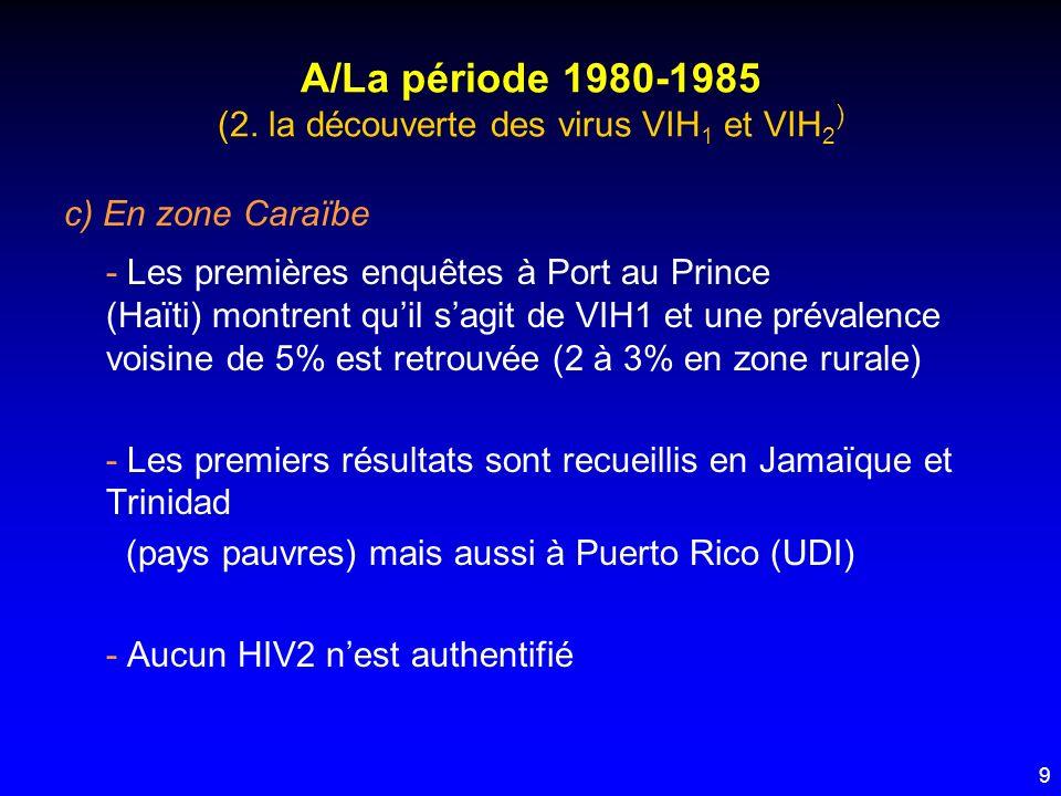 A/La période 1980-1985 (2. la découverte des virus VIH1 et VIH2)