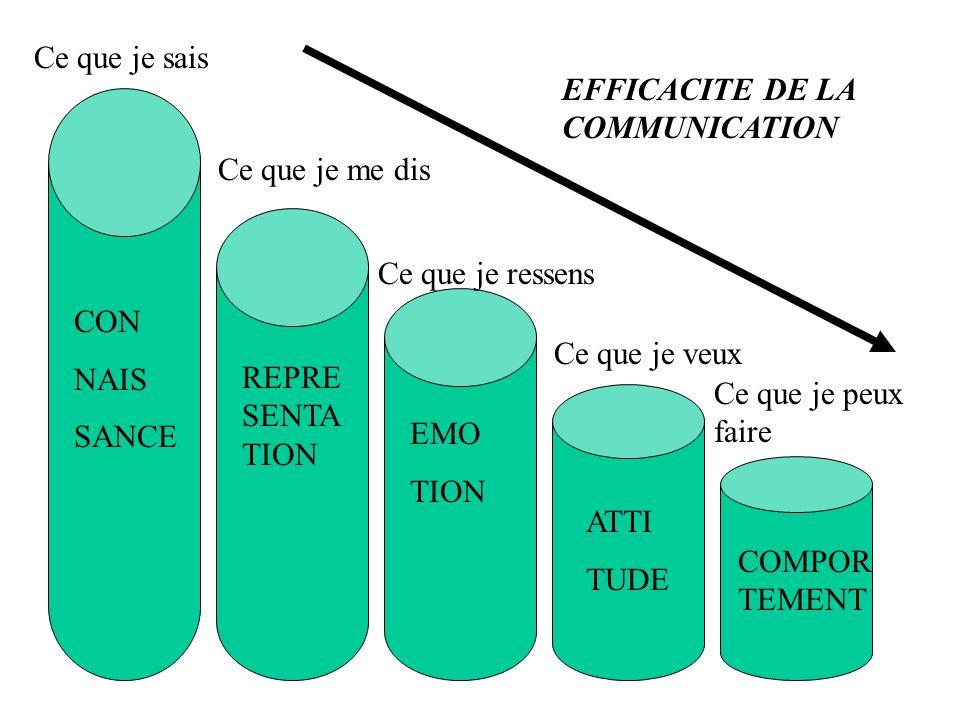 Ce que je sais EFFICACITE DE LA COMMUNICATION. Ce que je me dis. Ce que je ressens. CON. NAIS. SANCE.